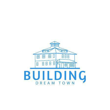 cape town building, settlement, habitation logo Ideas. Inspiration logo design. Template Vector Illustration. Isolated On White Background