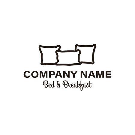 creative premium pillow furniture logo Ideas. Inspiration logo design. Template Vector Illustration. Isolated On White Background