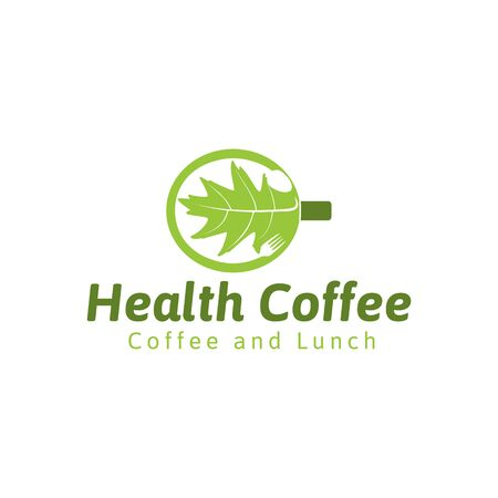 healthy coffee logo Ideas. Inspiration logo design. Template Vector Illustration. Isolated On White Background