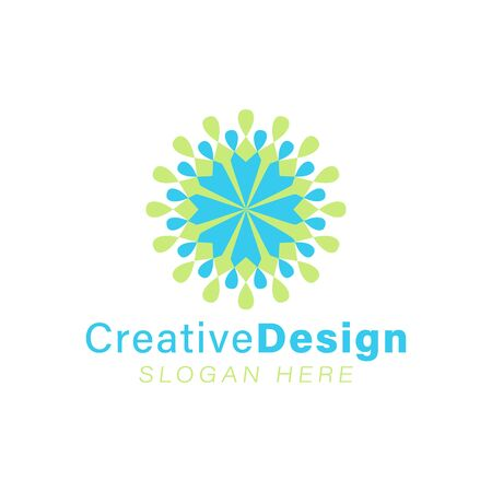 Unity and teamwork, abstract flower logo Ideas. Inspiration logo design. Template Vector Illustration. Isolated On White Background