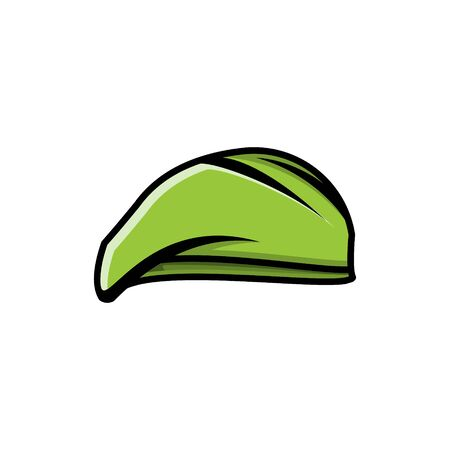 military hat logo Ideas. Inspiration logo design. Template Vector Illustration. Isolated On White Background Ilustração