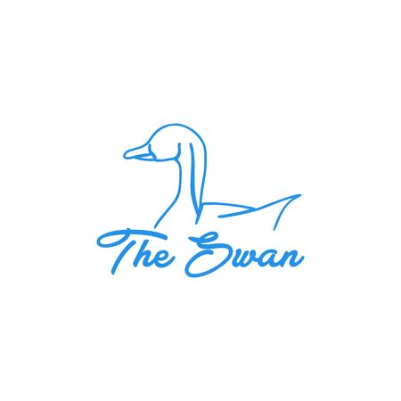 modern duck / swan logo Ideas. Inspiration logo design. Template Vector Illustration. Isolated On White Background