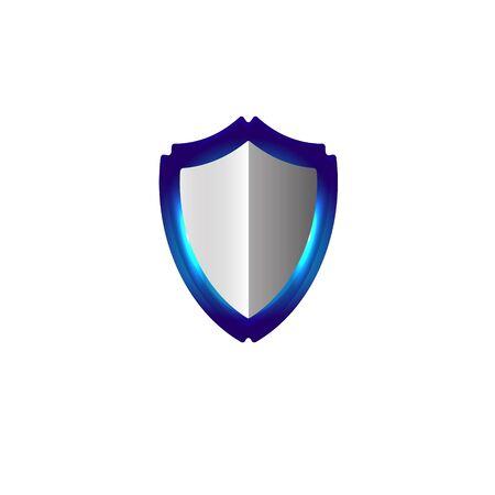 shield logo Ideas. Inspiration logo design. Template Vector Illustration. Isolated On White Background Illustration