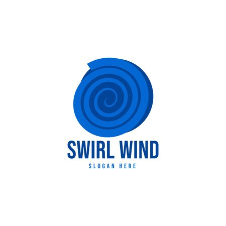 wind swirl logo Ideas. Inspiration logo design. Template Vector Illustration. Isolated On White Background