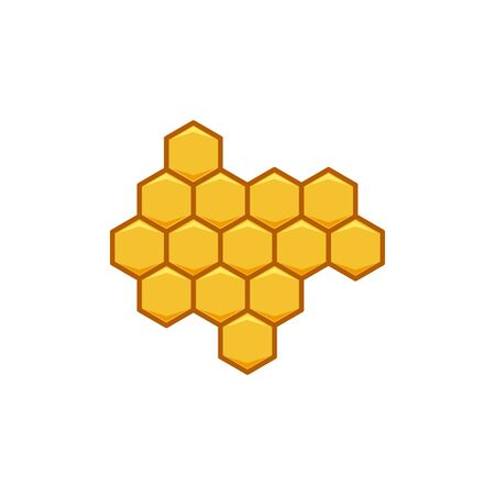 hexagon honey logo Ideas. Inspiration logo design. Template Vector Illustration. Isolated On White Background