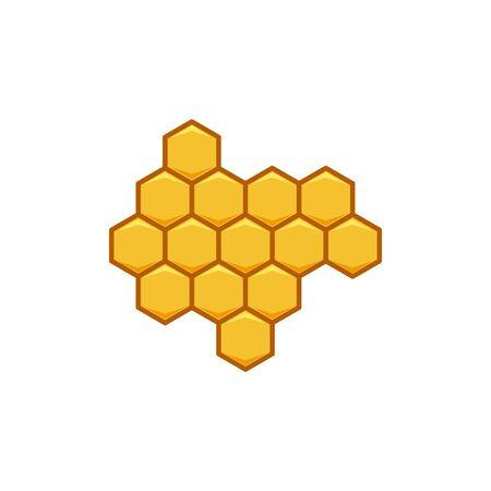 hexagon honey logo Ideas. Inspiration logo design. Template Vector Illustration. Isolated On White Background Illustration