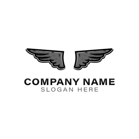 wing logo Ideas. Inspiration logo design. Template Vector Illustration. Isolated On White Background Stock Illustratie