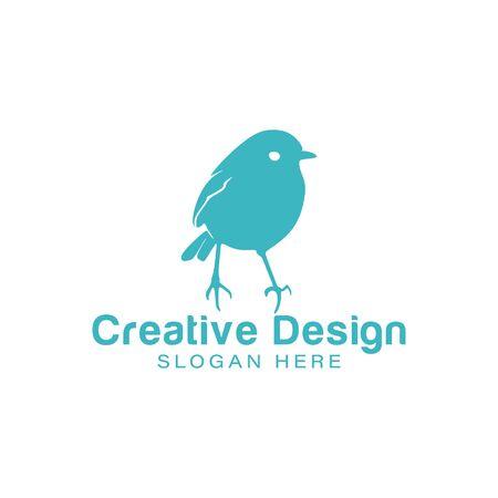 robin bird. love bird logo Ideas. Inspiration logo design. Template Vector Illustration. Isolated On White Background