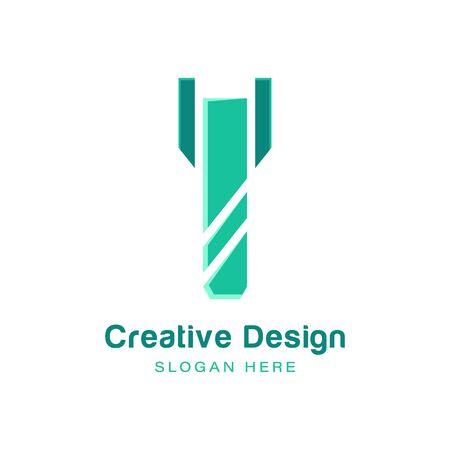 drill bit logo Ideas. Inspiration logo design. Template Vector Illustration. Isolated On White Background