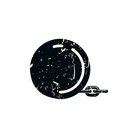 round iron ball logo Ideas. Inspiration logo design. Template Vector Illustration. Isolated On White Background