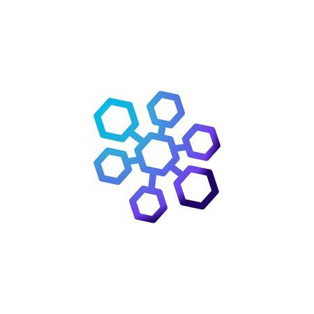 molecule logo Ideas. Inspiration logo design. Template Vector Illustration. Isolated On White Background Illustration
