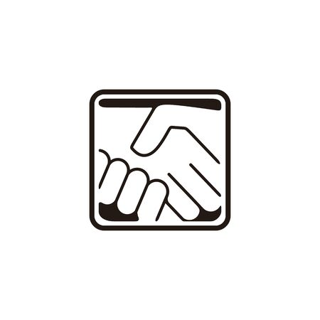 handshake. approve. community logo Ideas. Inspiration logo design. Template Vector Illustration. Isolated On White Background