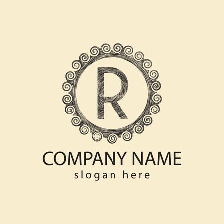Initial letter R, Beauty spa, Boutique logo Ideas. Inspiration logo design. Template Vector Illustration. Isolated On White Background