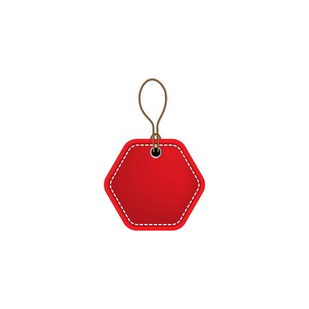 red blank prize tags label icon. Vector illustration style is flat iconic symbol, red color. Designed for websites and software interfaces