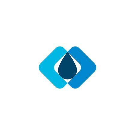 Water Drop Mineral Negative Space Logo Ideas Inspiration Logo
