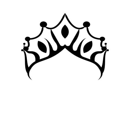Princes tiara crown or royal diadem logo Ideas. Inspiration logo design. Template Vector Illustration. Isolated On White Background