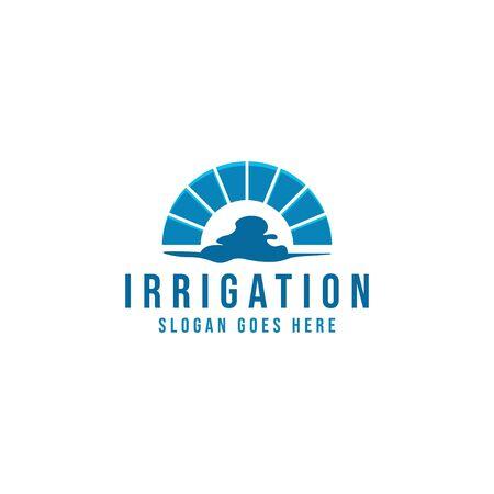 irrigation, water canal, bridge logo Ideas. Inspiration logo design. Template Vector Illustration. Isolated On White Background