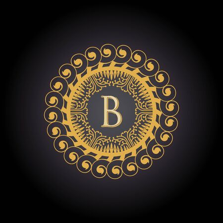 Initial Letter B, Luxury Logo for boutique, cosmetic, or jewelery logo design. Vector Illustration Logo