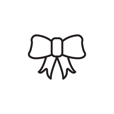 gift box, bow, bell. christmas element logo design. Vector Illustration