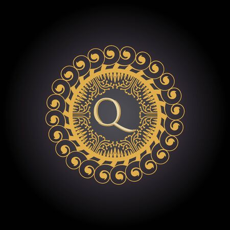 Initial Letter q, Luxury Logo for boutique, cosmetic, or jewelery logo design. Vector Illustration