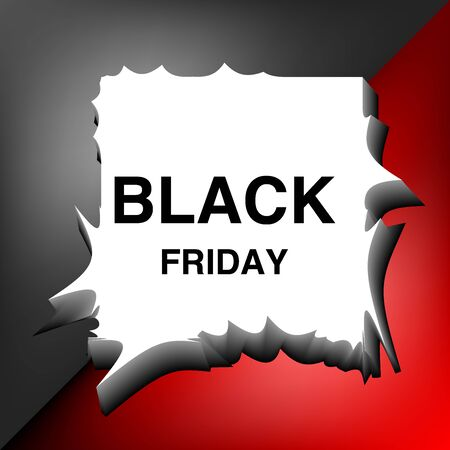 black friday special offer poster shopping prize tags with text holiday promotion concept horizontal banner flat vector illustration