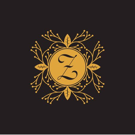 Initial Letter z, Luxury Logo for boutique, cosmetic, or jewelery logo design. Vector Illustration Logo