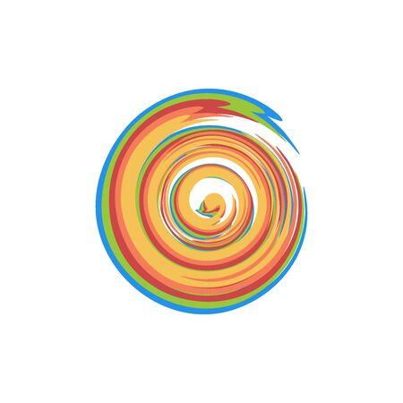 swirl candy logo vector illustration isolated on white background Logo