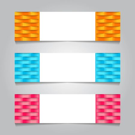 set abstract design trendy web banner template. vector illustration