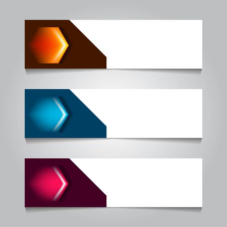 horizontal geometric corporate web banner template. for print or promotion product sale. vector illustration