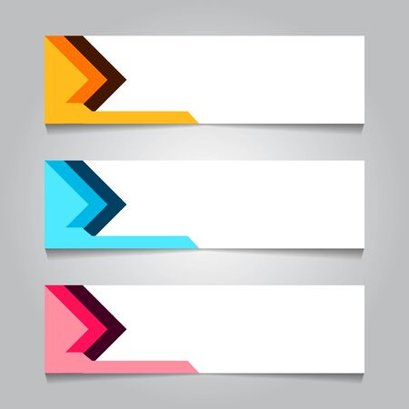 horizontal arrow corporate web banner template. for print or promotion product sale. vector illustration Stock Illustratie