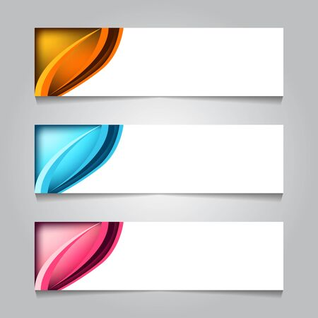 horizontal corporate web banner template. for print or promotion product sale. vector illustration isolated on white background Stock Illustratie