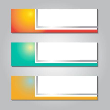 abstract design web banner. colorful gradient shape design. vector illustration