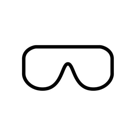 safety glasses doctor symbol line icon, Vector Illustration