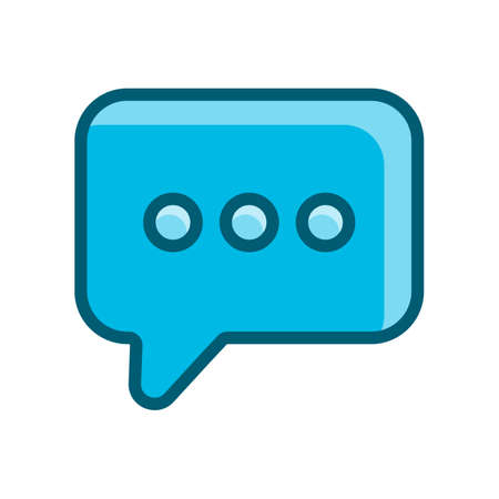 text message, bubble speech blue icon vector illustration isolated on white background