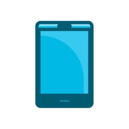 phone blue icon vector illustration isolated on white background