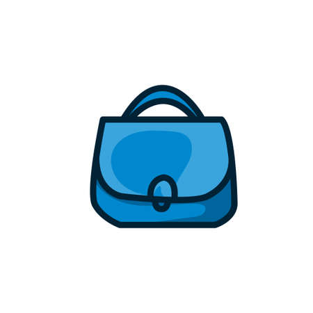 girls shopping bag colorful icon vector illustration