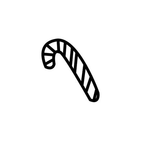 candy handle line icon vector illustration