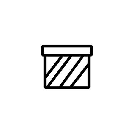 gift box line icon vector illustration