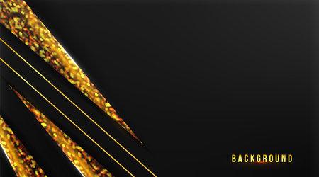 abstract premium background with golden on dark background vector illustration Ilustração