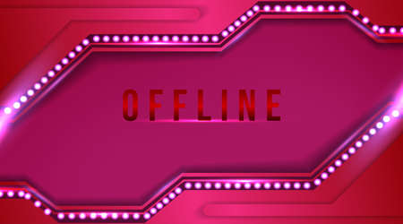 Modern offline banner with abstract background