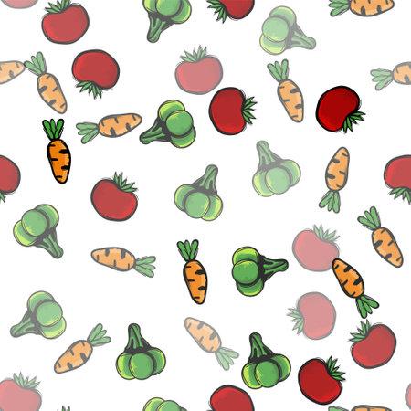 vegetables pattern, vector illustration Ilustracja