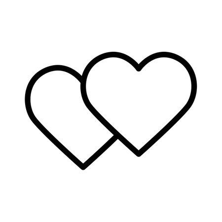 heart on white vector illustration, isolated on white background