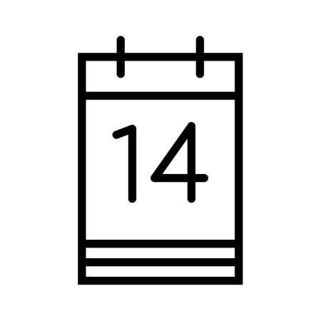 illustration of a calendar vector illustration, isolated on white background Ilustração