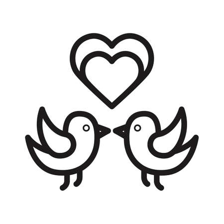 heart with ribbon icon vector illustration isolated on white