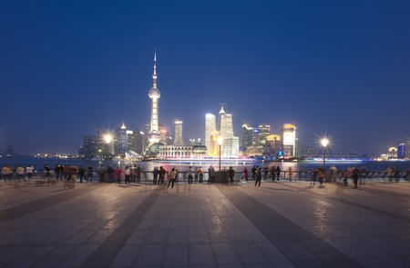 Shanghai Bund night scene