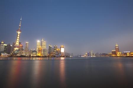Shanghai Bund night scene