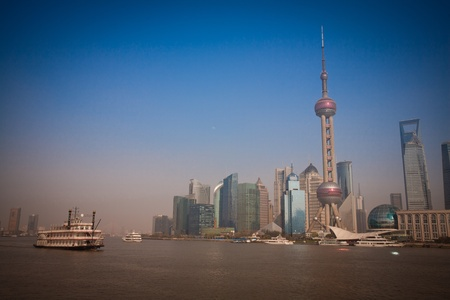 Shanghai Pudong and ship Stock Photo - 13227765