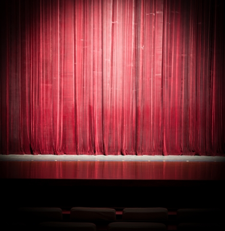 Stage curtain lights Stock Photo - 13702302