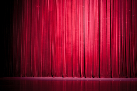 Stage curtain lights Stock Photo - 13702308