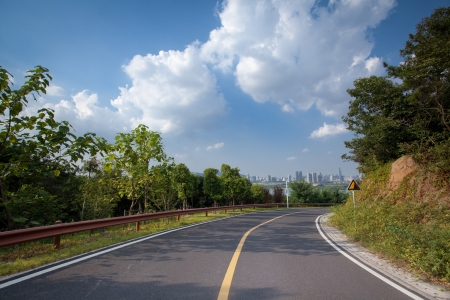 The road under the Blue Sky photo